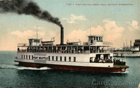 Boat Prices Seattle by West Seattle Ferry Boat Washington Postcard