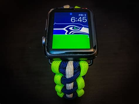 apple  seattle seahawks paracord band mm mm