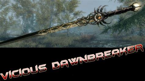 Skyrim Vicious Dawnbreaker Sword