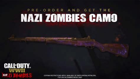 call zombies duty camo wwii nazi order pre weapon zombie camos bonus screen animated gun awesome games ops shot pm