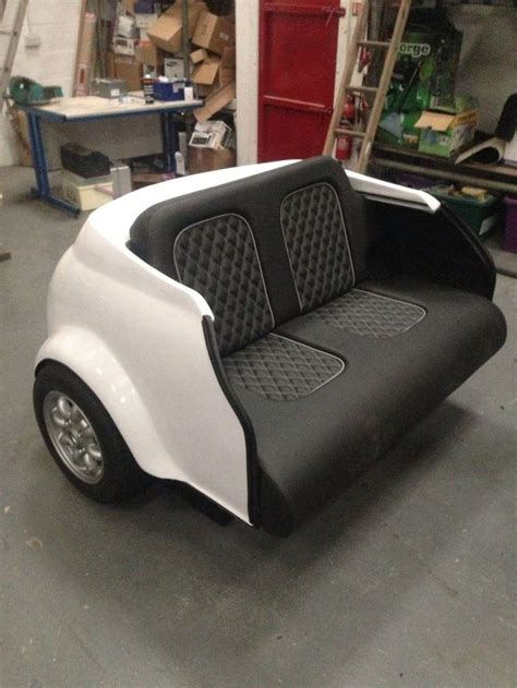 Mini Couches For by Classic White Mini Cooper Sofa Amazing Car Transformed
