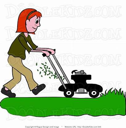 Lawn Mowing Clipart Grass Clip Riding Cut