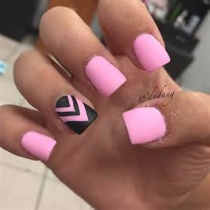 Beautiful pink and black nail designs