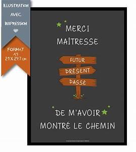 Cadeau Pour Maitresse D École : poster printed teacher schoolmaster affiches ~ Melissatoandfro.com Idées de Décoration