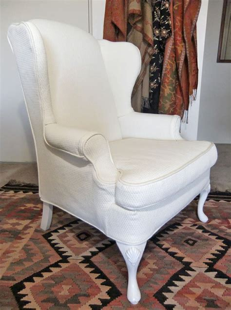 wing chair slipcovers wingback chair slipcover in pattern matelasse by