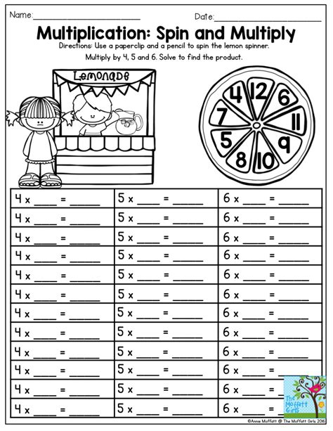 multiplication spin and multiply tons of fun and hands