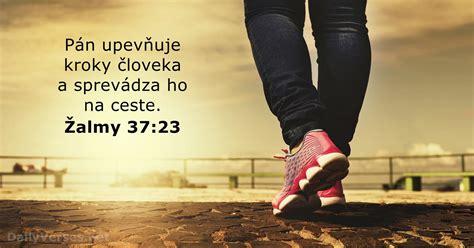 29. októbra 2019 - Biblický verš dňa - Žalm 37:23 ...
