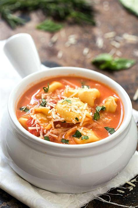 tomato tortellini soup one pot creamy tomato tortellini soup gal on a mission