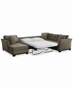 Elliot 3 pc microfiber sectional with full sleeper sofa for 3 pc sectional sofa with chaise