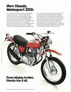 Honda Brochure Sl350 K1 1970 1971 Sales Catalog Repro