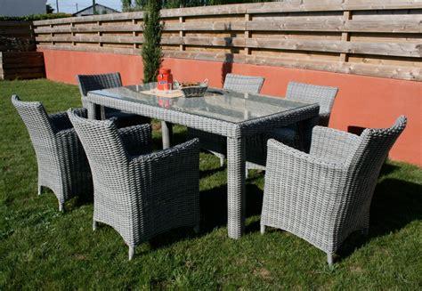 table et chaises de jardin en resine tressee mobilier d ext 233 rieur mamaisonmonjardin