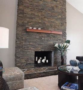 Stunning stone fireplace decoist for Contemporary stone fireplace designs