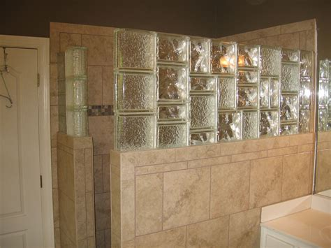 Glass Block Bathroom Designs by Glass Block Tile Shower Wall Glass Block In 2019
