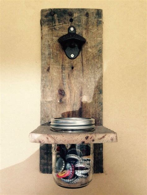 handmade recycled wood wall mounted bottle opener