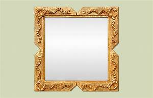 Petit Miroir Carré : petit miroir carr dor style napol on iii ~ Teatrodelosmanantiales.com Idées de Décoration