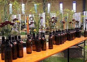 Floristik Deko Ideen : floristik ideen alte bierflaschen mit rutenhirse zur tischdeko tischchmuck ~ Eleganceandgraceweddings.com Haus und Dekorationen