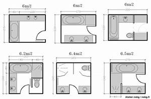 Plan Salle De Bain 4m2 : superior plan salle de bain 4m2 3 les salles de bains ~ Nature-et-papiers.com Idées de Décoration