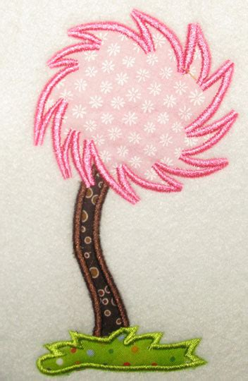 lorax mustache  tree applique embroidery design apex embroidery designs monogram fonts