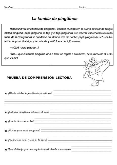 Ejercicios Comprension Lectora Para NiÑos  Yady Tablero