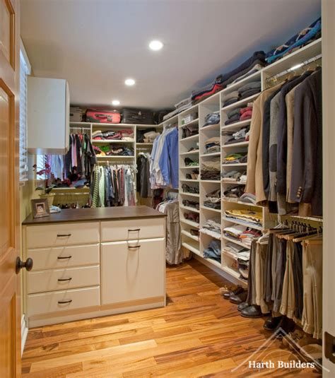 his hers closet closet philadelphia by harth builders