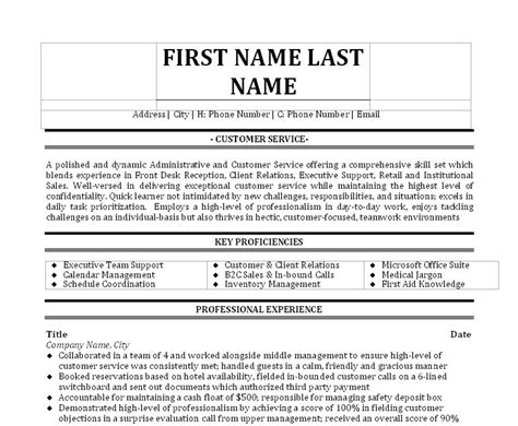 Front Desk Receptionist Resume Sle by Receptionist Front Desk Resume Sales Receptionist Lewesmr