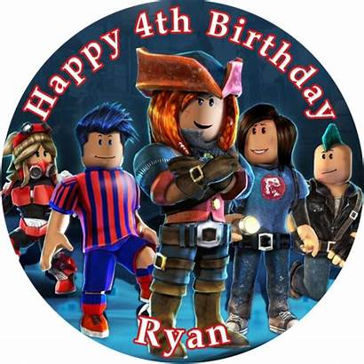 Roblox Cake Edible Topper Round Toppers Cupcake