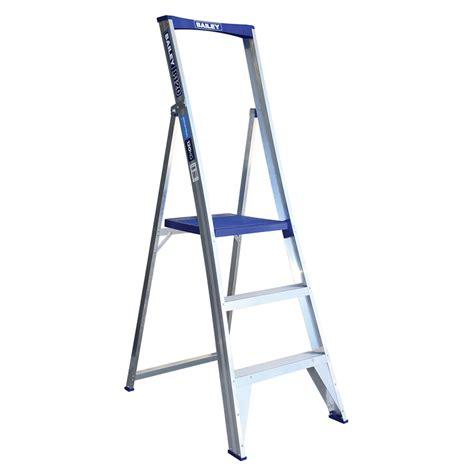 aluminium ladder bunnings bunnings bailey bailey 1 2m 4 aluminium platform