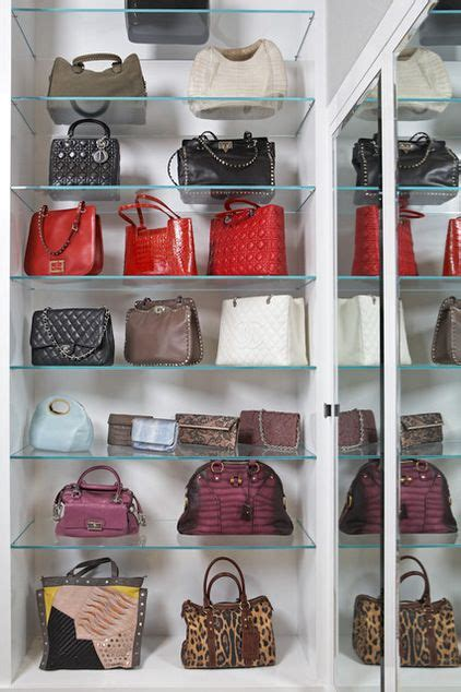 organizing handbags walk through closet ideas