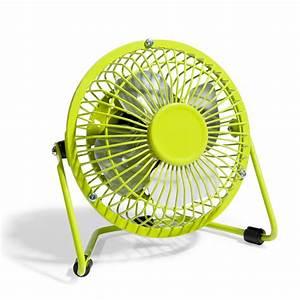 Petit Ventilateur De Bureau : mini ventilateur usb vert maisons du monde ~ Nature-et-papiers.com Idées de Décoration