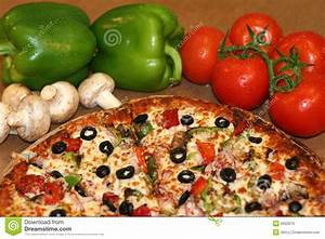 Pizza And Fresh Ingredients Royalty Free Stock Photo ...