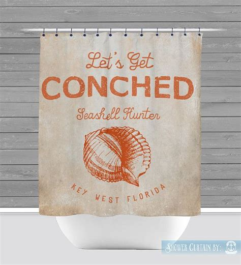 west shower key west shower curtain conch shell florida house