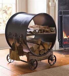 Round, Wood, Storage, Rack, With, Hooks, And, Shelf