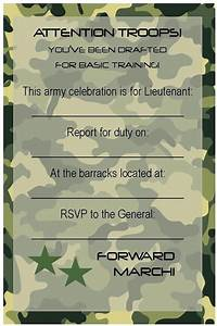 Free birthday party invitations free printable for Camouflage party invitation template
