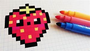 Pixel Art Manger : handmade pixel art how to draw kawaii strawberry ~ Melissatoandfro.com Idées de Décoration