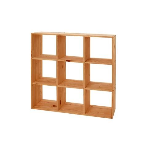 clic clac canape etagère cube modulo 9 cases pin massif meubles en pin