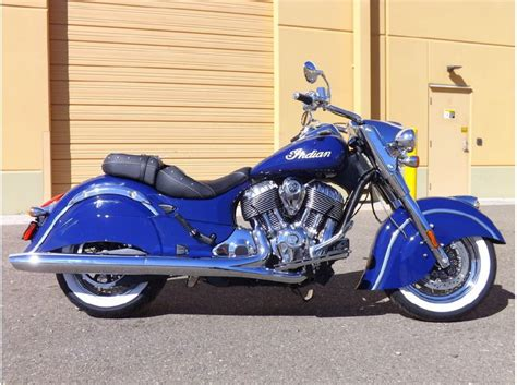 2014 Indian Chief Classic Springfield Blue For Sale On