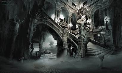 Gothic Dark Fantasy Cave Posters Interior Wallpapers