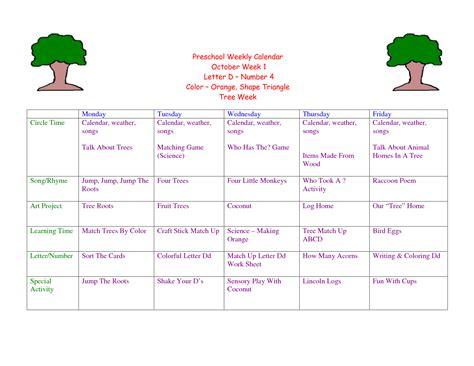Lovely Free Printable Prek Lesson Plans Downloadtarget