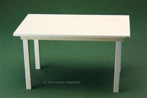 simple tables  doll houses  miniature scenes