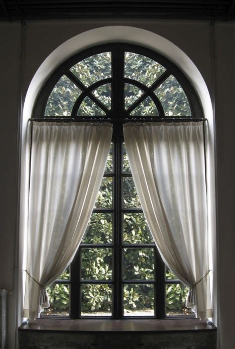 making  curtain   arched window thriftyfun