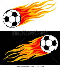 Soccer Ball with Flames