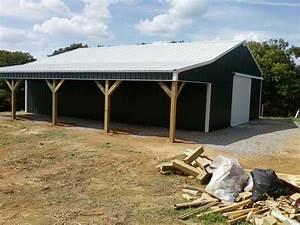 30x40x10 with 10x40 shed pole barn wwwnationalbarncom With 30x40 shed