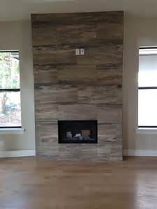 Wood Fireplace with Tile