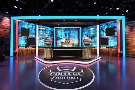 espn debuts redesigned studio  abc college football