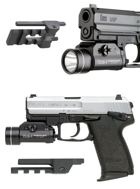 hk usp 45 laser light hk picatinny rail flashlight mounts hk usp flashlight