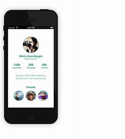 Ui Iphone Flat App Ios Templates Profile