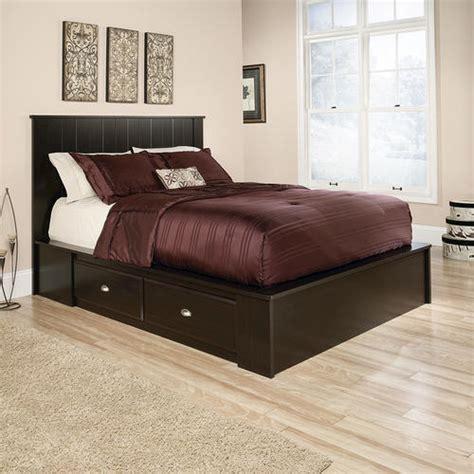 Menards Bedroom Furniture by Sauder Shoal Creek Jamocha Wood Platform Bed At Menards 174