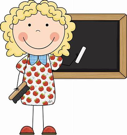 Teacher Cartoon Clip Cliparts Clipart Thank Attribution
