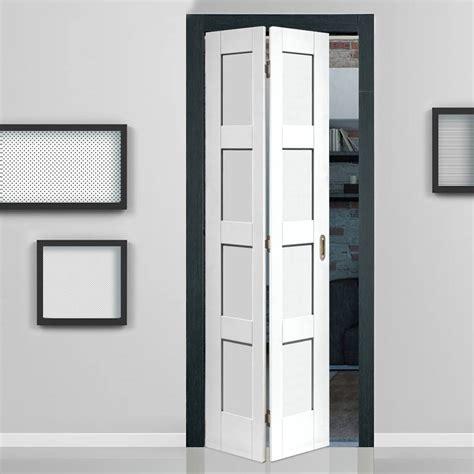 pantry doors with glass shaker white primed 4 panel bifold door shaker style
