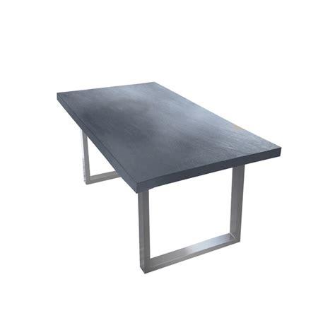 tisch aus beton moderner tisch mit platte aus beton